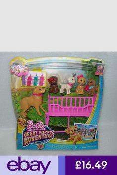 Barbie & Her Sisters Great Puppy Adventure Dog & Puppies Playset - NIP Barbie Mermaid Doll, Barbie Doll House, Barbie Toys, Mattel Dolls, Barbie Dream, Disney Princess Vanity, Disney Princess Characters, Little Girl Toys, Toys For Girls