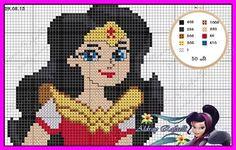Wonder Woman x-stitch