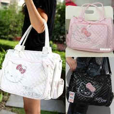 Women's Hellokitty Shoulder Hand Shopping Bag Soft Lady Gift Girl Pu L