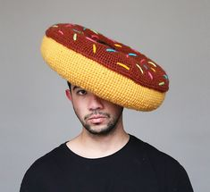 This Guy Crochets Hilarious Food Hats And Wears Them Himself   Bored Panda