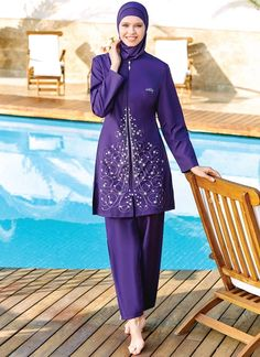 Tesmay 0120 Full Cover Burkini Swimsuit is one of the most stylish set of 2019 spring - summer collection Tesmay 0120 Full Cover Burkini Swimsuit details, Islamic Swimwear, Muslim Swimwear, Casual Hijab Outfit, Red Swimsuit, Mode Hijab, Spring Outfits, Spring Clothes, Muslim Fashion, Hippie Chic