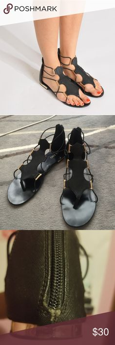 8cd407268 Aldo black zeanna gladiator sandals Black zeanna gladiator sandals in  pre-loved condition! They
