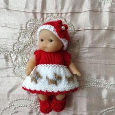 Vêtements de poupées pour s'adapter à 5» Berenguer bébé poupée/Itty Bitty baby doll/Cupcake poupée tricotée