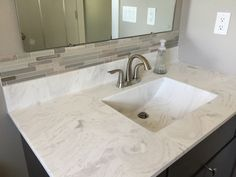 Bathroom Vanity Backsplash bathroom vanity backsplash. stone and glass mosaic | design