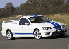 FPV (Ford Performance Vehicles) 2007 Ford Falcon Cobra ute - made in Australia. Custom Trucks, Custom Cars, Ford Falcon Australia, Ford Girl, Little Truck, Australian Cars, Van Car, Custom Muscle Cars, Ford Pickup Trucks