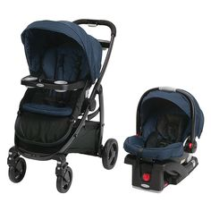 Graco Modes Travel System with SnugRide Click Connect 35 Infant Car Seat - Salute