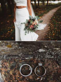 Pukuni two-piece wedding dress