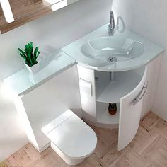 Pinned for the idea. Not sure how much I like the extension over the toilet. If were to do, vanity top should be one piece, with no cut line. Also: Consider how much the extra counter space would be needed.
