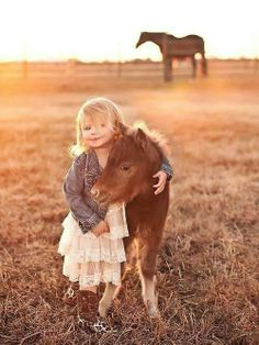 Little girl and her horse photo idea