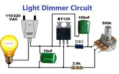Simple Electronic Circuits, Electronic Circuit Design, Electronic Engineering, Electrical Engineering, Electrical Wiring, Electronics Mini Projects, Simple Electronics, Electronics Basics, Electronics Components