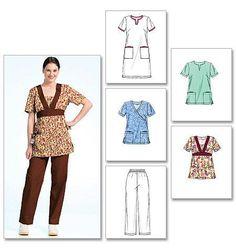 M5895 Misses'/Women's Scrubs: Tops, Dress & Pants