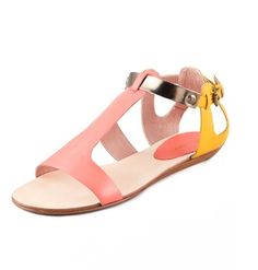 Rebecca Minkoff Bardot Colorblock Flat Sandals Photo - Style #:RMINK40658
