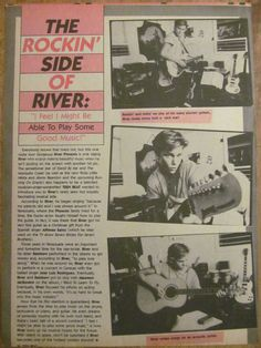 River Phoenix, Full Page Vintage Clipping