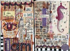 Journal Page By Bianca Mandity Using Coffee Break Design Stencils From Retro Cafe Art Gallery