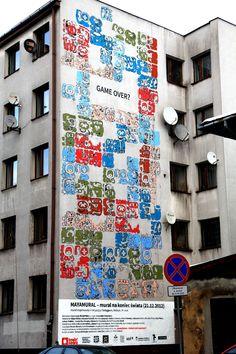 Mayamural, day 5, last. 18/18 Day 5, last. #maya #mural #cracow #2012 #graffiti #streetart Cracow, Poland.