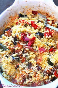 COUS-COUS CON VERDURAS ASADAS - Vegan Recipes, Vegan Food, Quinoa, Cooking, Breakfast, Murcia, Chicago, Gourmet, Roasted Vegetables