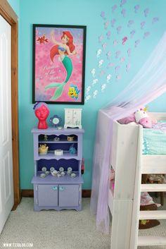 Little Girl's Mermaid Themed Room #cricutdesignspacechallengefinals
