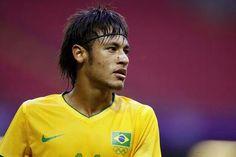 Neymar wearing Brazil Olympic Jersey