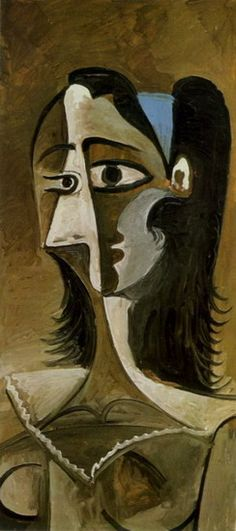 """Pablo Picasso Jacqueline The painting """"Tête de femme"""" from 1963 was auctioned at . Pablo Picasso Work, Kunst Picasso, Picasso Art, Picasso Paintings, Picasso Images, Time Painting, Painting Lessons, Painting Art, Spanish Art"""