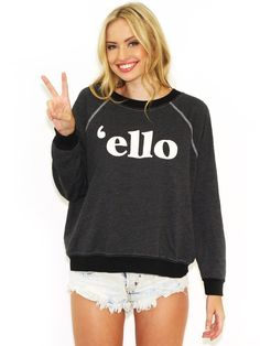 Wildfox Ello Kim Sweater in Clean Black - StackDealz