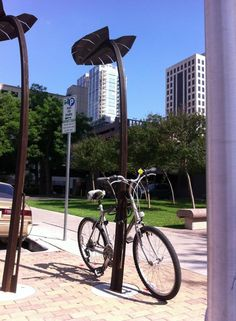 Austin Art in Public Places bike rack.  Never really thought of taking the design to new heights.