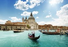 Grand Canal and Basilica Santa Maria della Salute, Venice, Italy and sunny day . 5 Quotes About Italy That Will Awake Your Wanderlust Places Around The World, Oh The Places You'll Go, Places To Travel, Travel Destinations, Places To Visit, Around The Worlds, Holiday Destinations, Dream Vacations, Vacation Spots