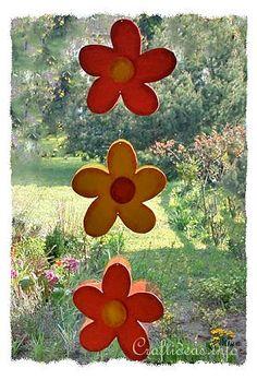 Summer Wood Craft Idea - Wooden Flower Garland