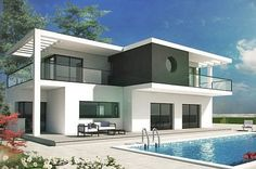 ECO Villas in Spain, using insulated concrete formwork and external wall insulation