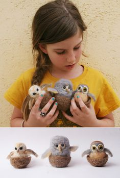 diy  tutorial on how to felt your own owls. cozy and cute