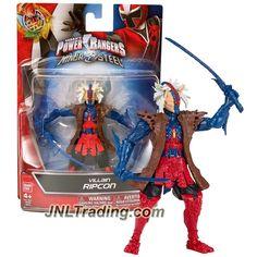 Bandai Year 2016 Saban's Power Rangers Ninja Steel Series 5 Inch Tall Action Figure - Villain RIPCON with 2 Katana Swords