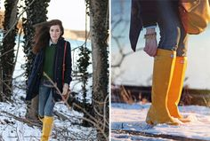 Classy Girls Wear Pearls: The Perfectly Packable Hunter Tour Boots