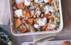 Butternut Squash Gratin with Goat Cheese and Hazelnuts - Bon Appétit