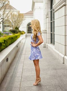 Blue printed two-piece (lovelylittlestyle.com)