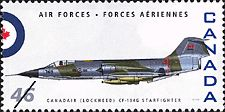 Canadian Postal Archives Database    Postal Administration: Canada     Title: Canadair (Lockheed) CF-104G Starfighter     Denomination: 46¢     Date of Issue: 4 September 1999