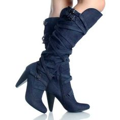 Comfy Thick Heel Over Knee Height Strappy Winter Fashion Shoes19 Boots Footwear | eBay