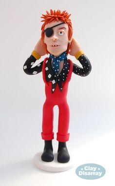 David Bowie Polymer Portrait | Ziggy Stardust Clay Sculpture | OOAK Figure
