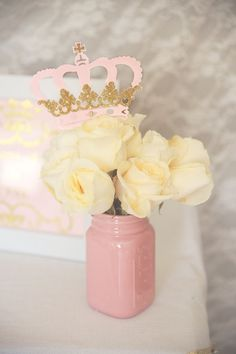Princess crown centerpiece Royal crown by InspiredLilParties