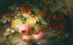 Roosenboom Margaretha. A bouquet on a forest-path