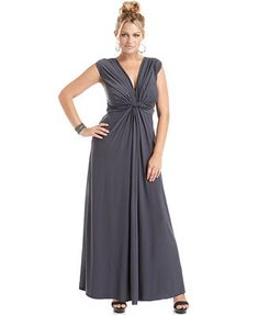 Love Squared Plus Size Sleeveless Knotted Maxi Dress #plussize plus size fashion for women