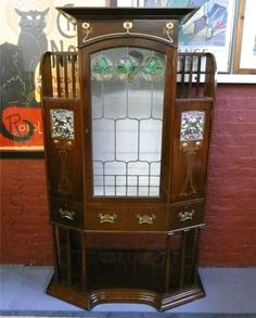 Art Nouveau cabinet said to be from Wylie Lochead c1904?