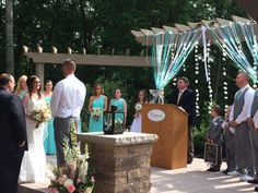 Amanda and Jeff's ceremony in the Gardens here at Sand Springs