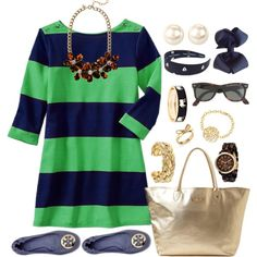 Navy and Green Stripes :)