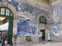 Azulejos in Porto train station