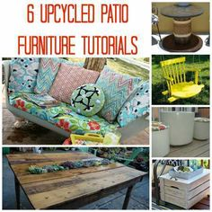6 Upcycled Patio Furniture Tutorials