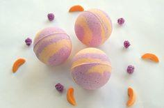 Raspberry Peach Bath Bomb, Vegan Bath Bomb, Bath Fizzie