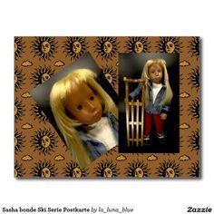 Sasha bonde Ski Serie Postkarte