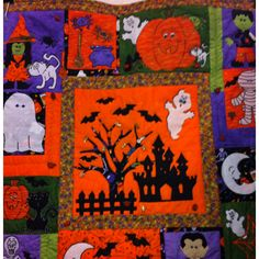 My Halloween wall quilt project this year