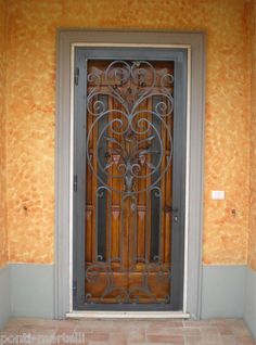 CANCELLO PORTONE in Ferro Battuto . Realizzazioni Personalizzate . 565 Gate Design, Wrought Iron, Windows, Doors, Led, Home Decor, Ebay, Houses, Iron Doors