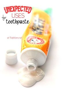 Unexpected uses for toothpaste at TidyMom.net