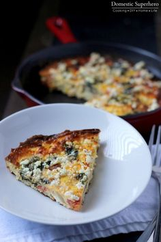 Roasted Vegetable Frittata is the perfect weeknight meal to clean out your fridge - eggs, whatever veggies you have on hand, and cheese! Takes less than 30 minutes to cook up and lasts for days!